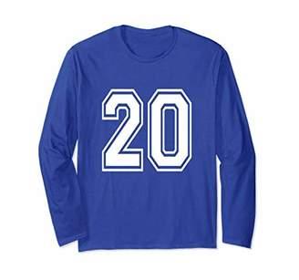 20 Number Sports Player School Team Long Sleeve Shirt