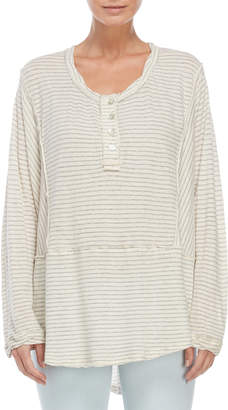 Free People Stripe Long Sleeve Henley