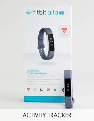 Fitbit Alta HR activity tracker in gray
