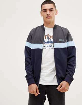 Barbour International track jacket sweat in navy