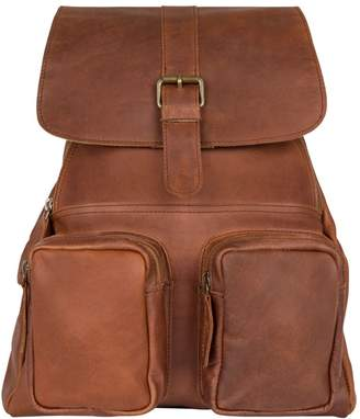 MAHI Leather - Leather Roma Backpack/Rucksack Womens in Vintage Brown