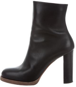 CelineCéline Leather Ankle Boots