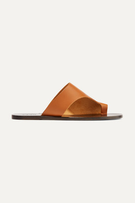 Atelier ATP Rosa Cutout Leather Sandals - Tan