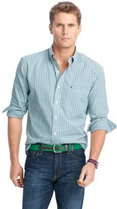 Izod Men's Slim-Fit Essential Tattersal Button-Down Shirt