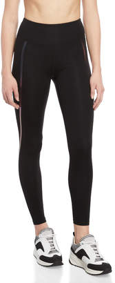 KENDALL + KYLIE Black High-Waisted Taped Leggings
