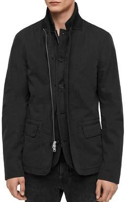 AllSaints Eston Layered-Look Regular Fit Blazer