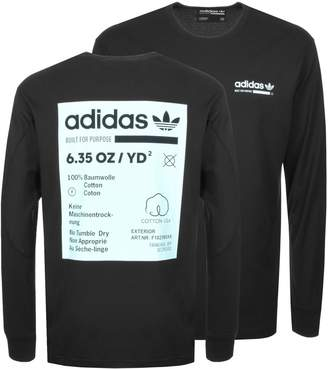 adidas Kaval Long Sleeve T Shirt Black