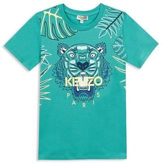 Kenzo Boys' Leaf Tiger Tee - Big Kid