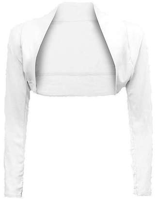 cce3cc85e5b at Amazon Canada · F F Fashion   Freedom Women Ladies Long Sleeve Plain  Bolero Shrug Cropped Top Cardigan (Medium