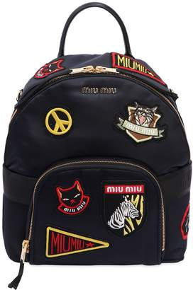 Miu Miu Satin Backpack W/ Patches