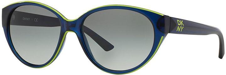 DKNYDKNY DY4120 57mm Cat-Eye Gradient Sunglasses