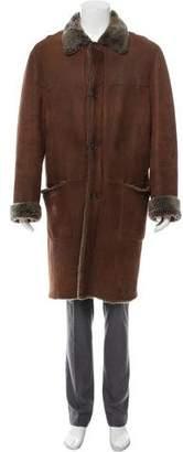 Prada Shearling Leather Coat