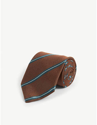 Bigi Cravatte Stripe print silk tie