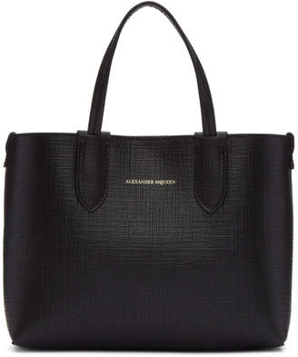 Alexander McQueen Black Mini Shopper Tote