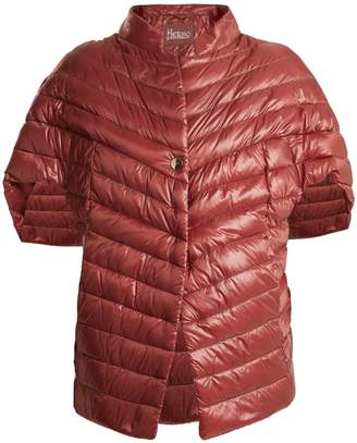 Herno High-neck quilted down cape
