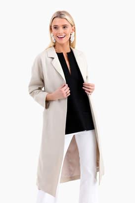 Emerson Fry Sand Linen Drop Shoulder Coat