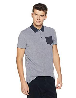 Scotch & Soda Men's Polo in Two-Tone Pique Quality with Contrast Chest Pocket