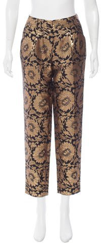 Kate Spade New York Metallic Abstract Print Pants