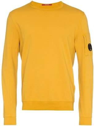 C.P. Company Yellow logo embellished cotton sweater