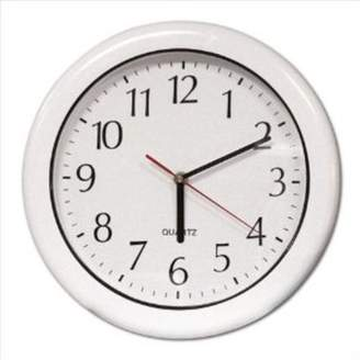 "Poolmaster 12"" Outdoor Clock - White"