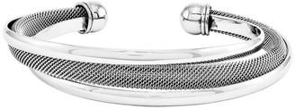 Steel By Design Stainless Steel Polished Mesh Twist Cuff Bracelet