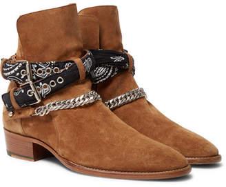 Embellished Suede Jodhpur Boots