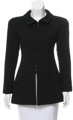 Chanel Crepe Pointed Collar Jacket