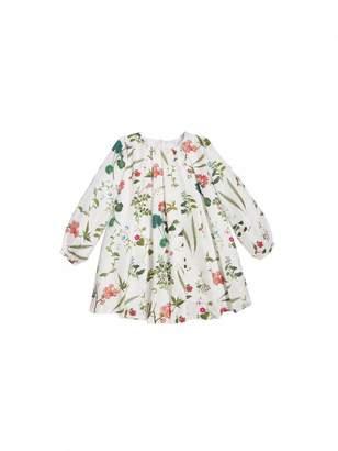 Oscar de la Renta Botanical Print Silk-Twill Dress