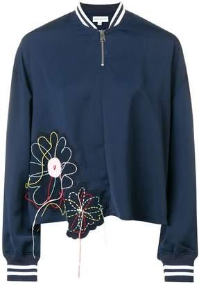 Mira Mikati floral applique bomber jacket