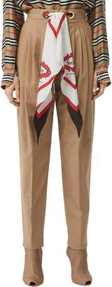 Burberry Scarf Belt Cotton Trousers