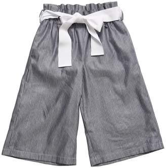 Simonetta PINSTRIPED LINEN BLEND PANTS