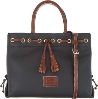 Dooney & Bourke Pebble Leather Tassel Tote Crossbody Bag