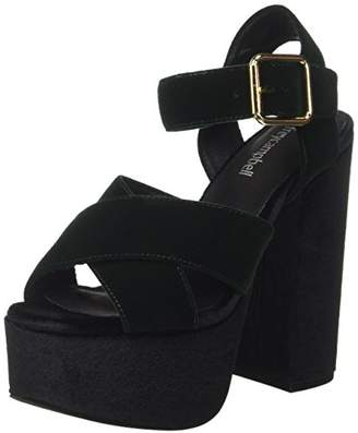 Jeffrey Campbell Women''s 16f021 Velvet Sandals, (Dark Green)