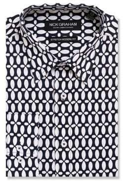 Nick Graham Teardrop Button-Down Shirt