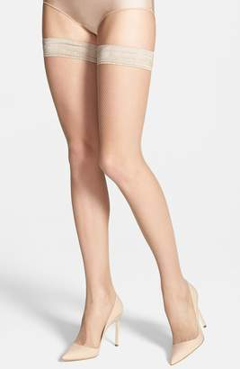 Oroblu 'Bas Tricot' Fishnet Stay-Up Stockings