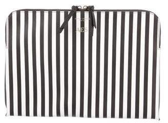 Henri Bendel Striped Canvas Laptop Case