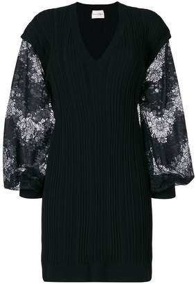 Ungaro contrast sleeve knitted dress