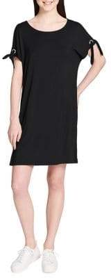 Calvin Klein Short-Sleeve Self-Tie Dress