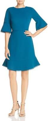 Betsey Johnson Scuba Crepe Bell Sleeve Dress