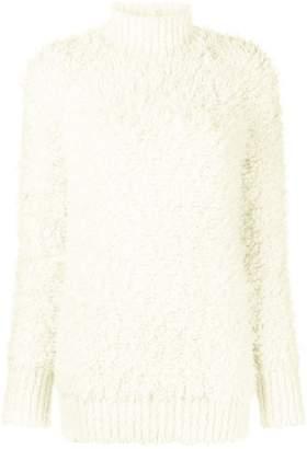Marni furry long sleeved sweater