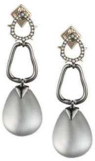 Alexis Bittar Vanitas Crystal Encrusted Link Drop Earring