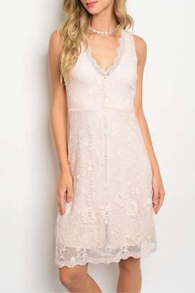Miami Pink Lace Dress