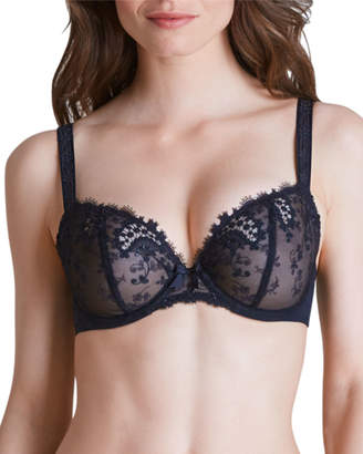 Simone Perele Wish Lace Demi Full-Figure Cup Bra, Black