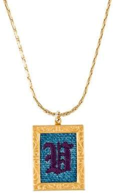 Lulu Frost Hand-Embroidered Pendant Necklace