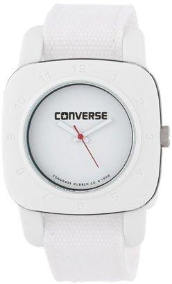 Converse (コンバース) - コンバースレディースvr021100 1908 Regular Square WhiteアナログDial andホワイトキャンバスPull Throughストラップウォッチ