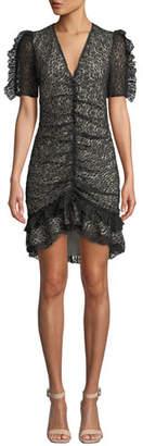 Elliatt Venice Ruched Chantilly Lace Dress