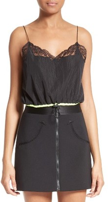 Women's Alexander Wang Nylon Crop Camisole $375 thestylecure.com