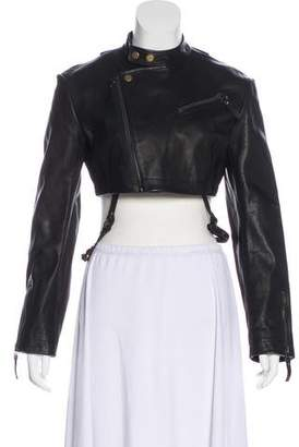Alexander Wang Leather Cropped Jacket