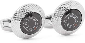Compass Rhodium-Plated Cufflinks