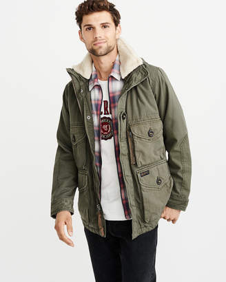 Abercrombie & Fitch Removable Sherpa Combat Jacket